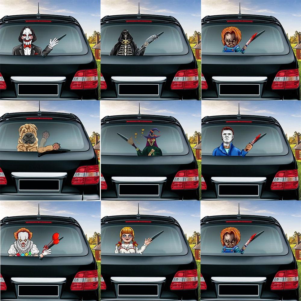 Милые украшения Shar Pei, украшение задним стеклом автомобиля, стильные наклейки на заднее стекло, автомобильные наклейки и Переводные картинк...