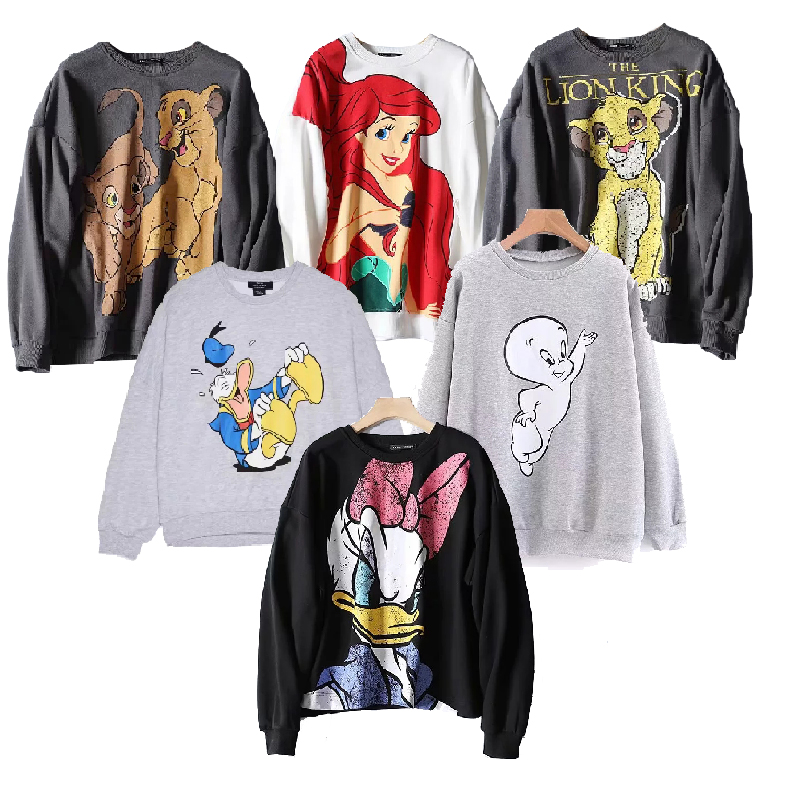 Tops Hoodies Women Clothing 2019 Autumn Hooded Casual Tee  Jumper The Lion King Coatsweatshirt Pullover Streetwear Cartoon