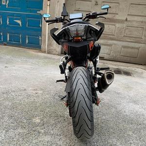 Image 5 - دراجة نارية إطار لوحة الرخصة جبل قوس مع مصباح ليد ل KTM Duke 125 200 250 390 2013 2014 2015 2016 2017 2018 2019
