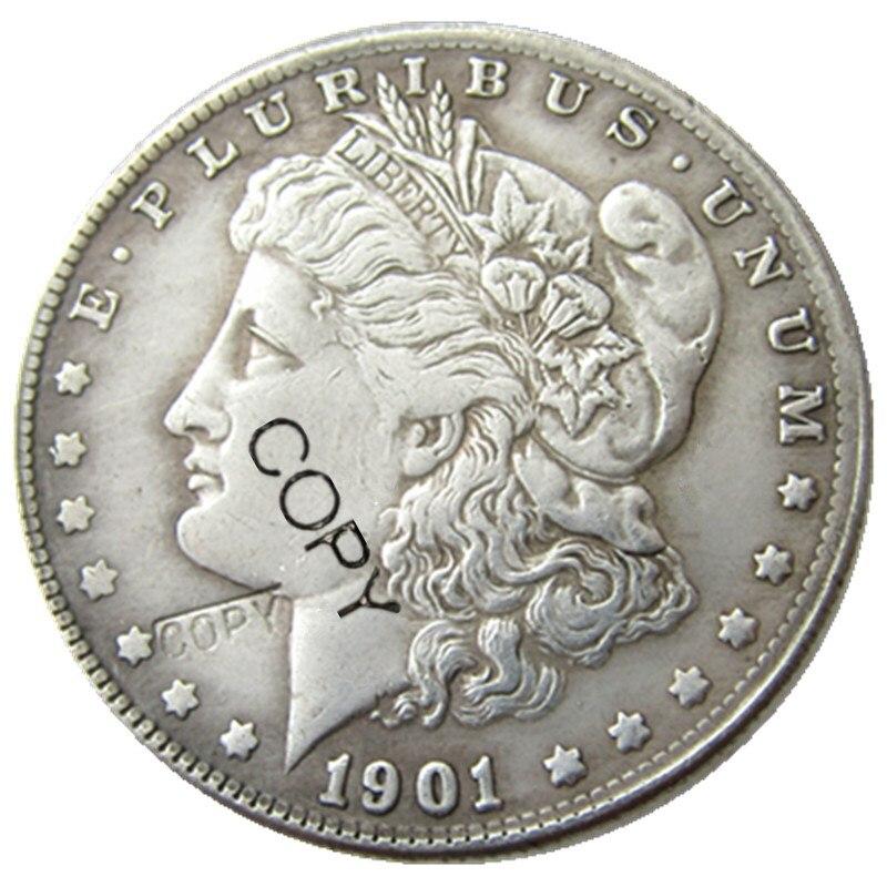 Монеты США 1901, Морганы, искусственные монеты, посеребренные