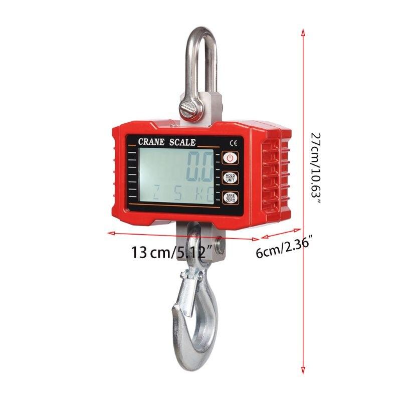 1000кг/2000LBS цифровой висячие шкала промышленный сверхмощный крановые весы с точный весенний датчик крюк шкала