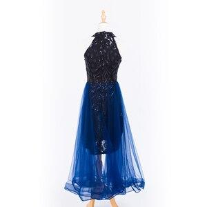Image 2 - 플러스 사이즈 이브닝 호스트 긴 드레스 높은 목 지퍼 간단한 파티 가운 Soiree 섹시한 공식 드레스 MS 0080