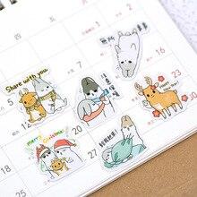 Decorative Stickers Scrapbooking Diy Korean-Style Cute Cartoon 1-Bag