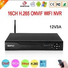 Controle remoto 5mp hi3536d áudio xmeye h.265 + 16ch 16 canais de detecção de rosto onvif wifi cctv dvr nvr vigilância gravador de vídeo