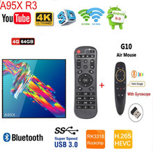 A95X R3 9.0 RK3318 4K TV Box Mendukung 2.4G & 5.8G Wifi Y0utbe Bt4.0 Media Player(China)