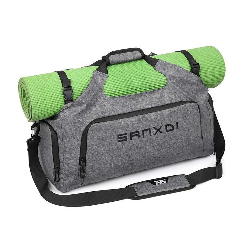 Fitness Gym Bag For Shoes Women Men Yoga Mat Travel Bags Dry Wet Separation Handbag Shoulder Blaso Tas Gymtas XA865WA