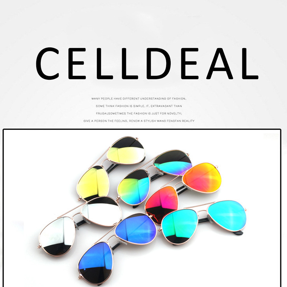 CellDeal UV400 Protection Sunglasses Anti-Ultraviolet Reflection Of Children's Mirror Brilliant Perform Retro Pilot Kid Boy Girl