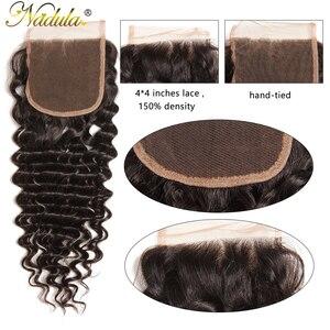 Image 4 - Nadulaบราซิลคลื่นลึก 10 20 นิ้วRemy Hair 4*4 ฟรีPartสวิสลูกไม้ปิดจัดส่งฟรี