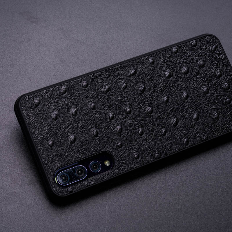 Struisvogel Huid Telefoon Geval Voor Huawei Mate 20 10 9 Pro P10 P20 Lite Soft TPU Edge Cover Voor Honor 8X Max 9 10 Nova 3 3i Capa - 3