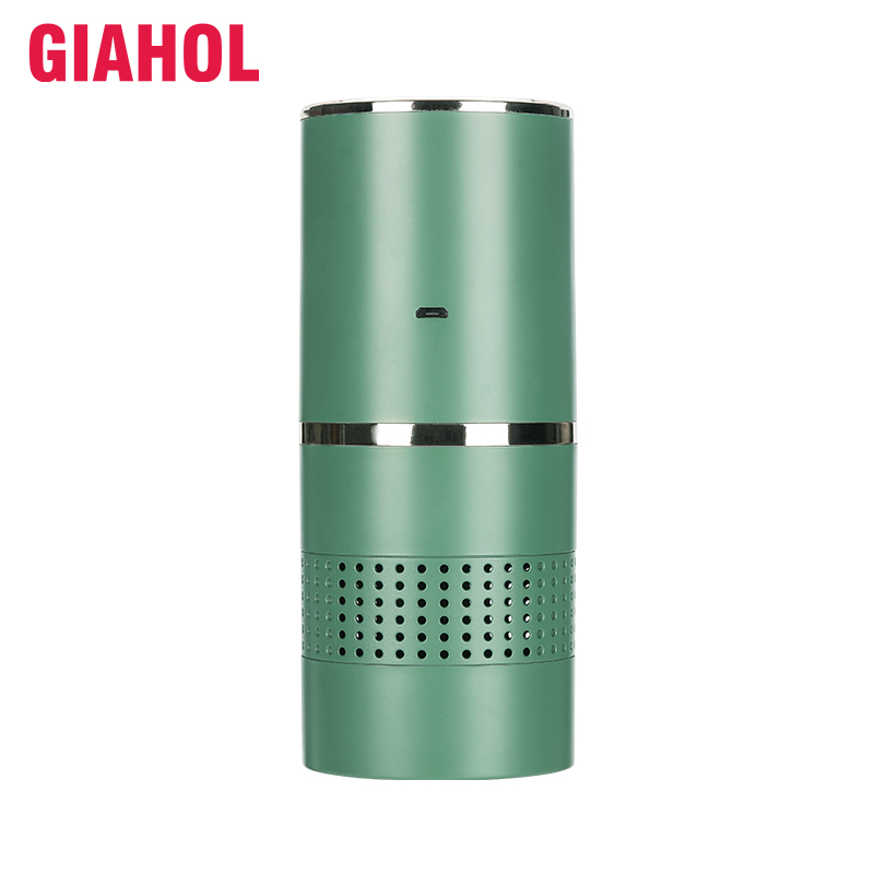 Giahol Anion Filter Car Air Purifier Remove Smoke Aromatherapy Car Air Cleaner USB Charging Portable Home Air Freshener