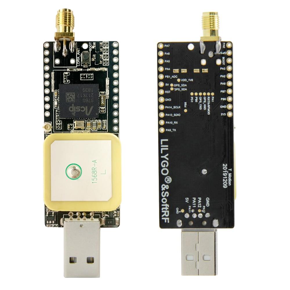 LILYGO®& Softtrf ttgo t-motion s76g lora chip lora 868 mhz antena gps conector usb placa de desenvolvimento