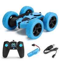 Coche de Control remoto de doble cara para niños, juguete infantil de coche de radiocontrol con giro de 360 grados, coche de deriva, Rock Crawler chico Robot de alta velocidad