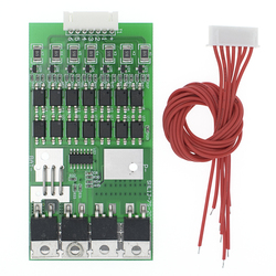 Bms 7S Li-ion Lithium 18650 Battery Protection Board 24V 20A Battery Balancer With Matching Cable Automatic Protection Function