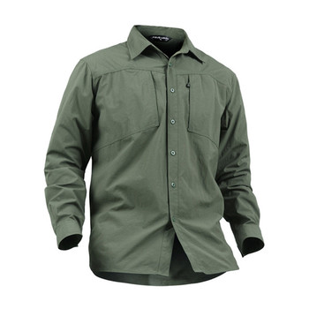 Men Long Sleeve Shirts Quick Dry Army Shirts Black Sports Tops Outdoor Hiking Fishing Clothes Military Tactical Combat Shirts