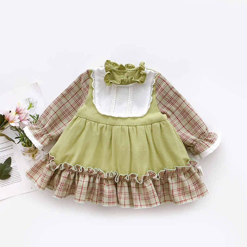 Toddler Kid Baby Girl Autumn Embroidery Princess Casual Party Pageant Dress 0-6Y