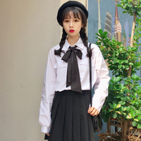 Gothic Lolita JK Uniform Shirt Vintage Shirt Army Double Breasted Tail Coat Kawaii Girl Preppy Chic Academic Style