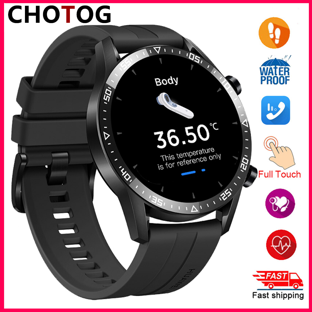 Body temperature Smart Watch Men Waterproof Bluetooth Call Smartwatch Women Blood Pressure Fitness Tracker For Android iphone