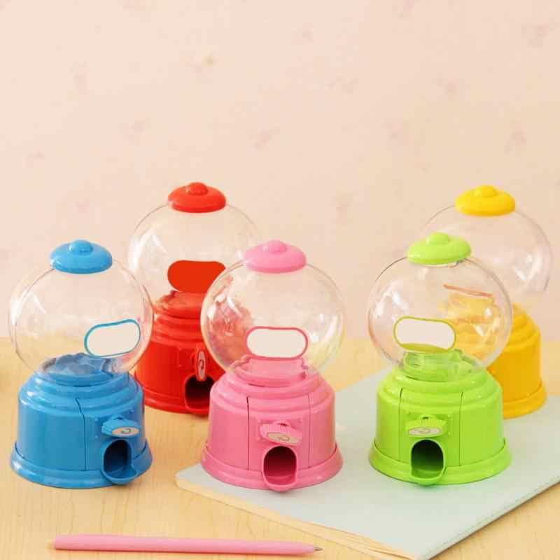 Version coréenne bonbons mignons Mini Machine à bonbons distributeur de bulles banque de pièces enfants jouet créatif tirelire collations de stockage