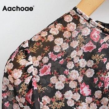 Aachoae Boho Style Floral Dress 5