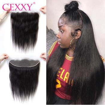CEXXY koronkowe przednie proste Remy ludzkie włosy 13 #215 4 przezroczyste koronkowe przednie zamknięcie z dzieckiem włosy wstępnie oskubane włoskowate HD koronki tanie i dobre opinie Włosy remy CN (pochodzenie) 13 x 4 130 Brazylijskie włosy Ręcznie wiązane szwajcarska koronka WSZYSTKIE KOLORY Tylko 1 sztuka