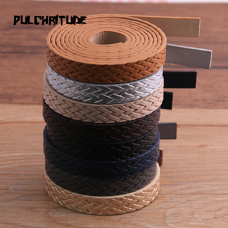 1Pcs 120 X 10mm 8 Color Weave PU Leather Cord & Rope Diy Jewelry Findings Accessories Jewelry Making Material For Bracelet