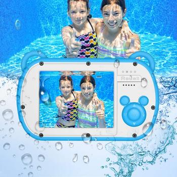 Underwater Kids Camera 8XDigital Zoom 2.7inch LCD Waterproof HD Video Camcorder For Children Gifts Fixed focus lens Digital Cams