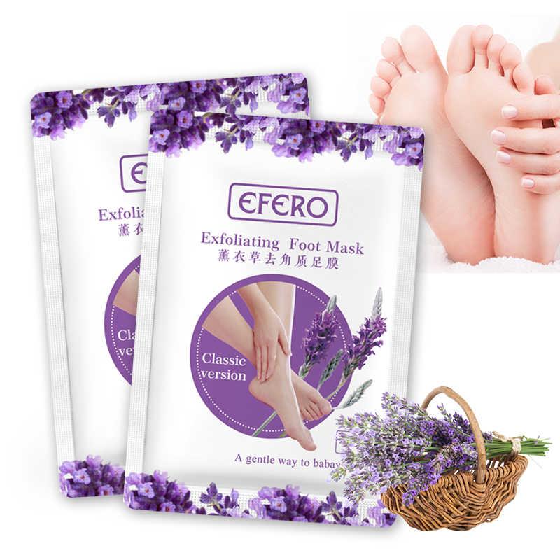 Efero 1pair 2pcs Foot Mask For Legs Lavender Extract Peeling Dead
