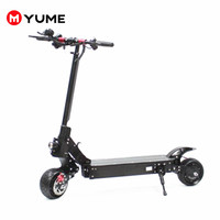 YUME G8 8 Powerful Dual Motor 2000W Pneumatic Wide Tires Up to 40Mile&30MPH Foldable Electric Scooter for Adults