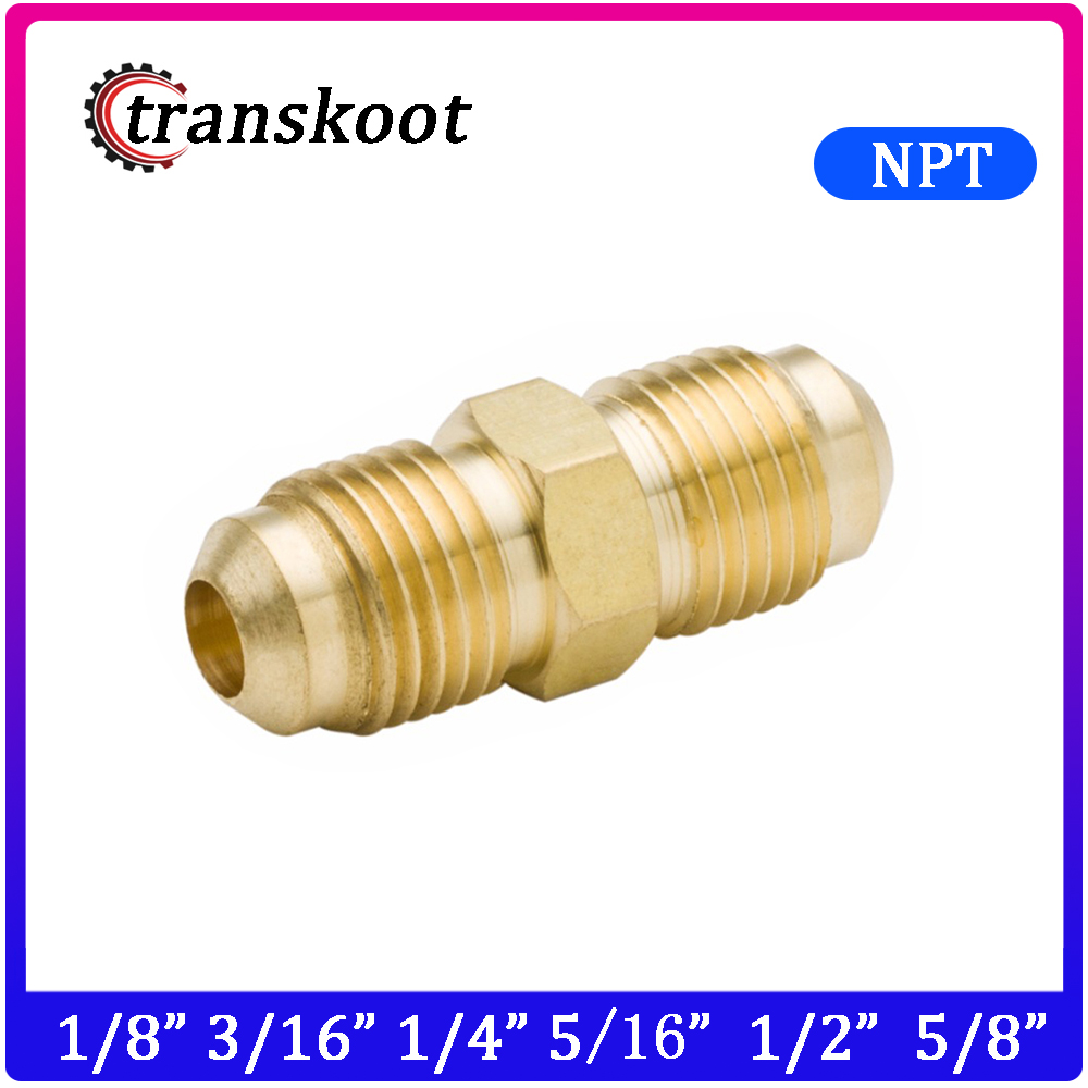 Hex Nipple 1//2 NPT x 3//4-16UNF 304 Stainless Steel Pipe Tube Fitting 3Pcs