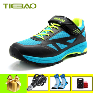 TIEBAO sapatilha ciclismo mtb men women mountain bike shoes self-locking mtb shoes breathable superstar riding bicycle sneakers(China)