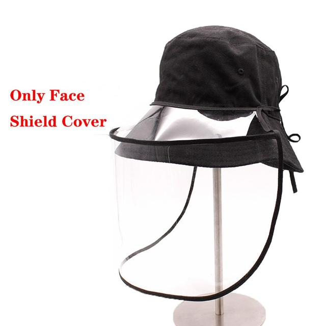 Dual-use Sun Hat Protective Face Shield Cover Hat Anti Spitting Saliva Drool Baseball Cap With Detachable Clear Facial Mask 1