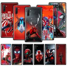 phone case for for samsung note 10 9 8 3 plus lite cases silicon soft tpu coque for samsung galaxy m30s m30 m20 m10 m40 covers Marvel Hero Spiderman Phone Case For Samsung Galaxy Note 10 Plus 5G 8 9 10 Lite M10 M20 M30 M40 M11 M21 M31 M51 TPU Couqe Cover