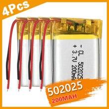 502025 3.7v Lithium li ion polymère batterie Rechargeable 200 mah polymère batterie au lithium pour MP3 portable GPS télécommandes
