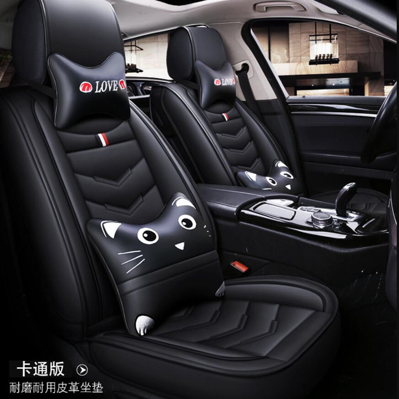 For NISSAN MICRA Front PAIR of Red LEATHER LOOK Car Seat Covers