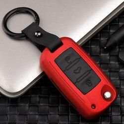 ABS + silikon araba anahtarı kapağı için Skoda Octavia a5 a7 kodiaq Karoq hızlı yeti için Passat B8 Skoda Superb a7 2017 2018 2019