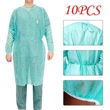 Vêtements de protection jetables unisexe, vêtements d'isolation, Anti-crachat, imperméable, Anti-taches d'huile, costume d'allaitement Anti-buée, 10 pièces
