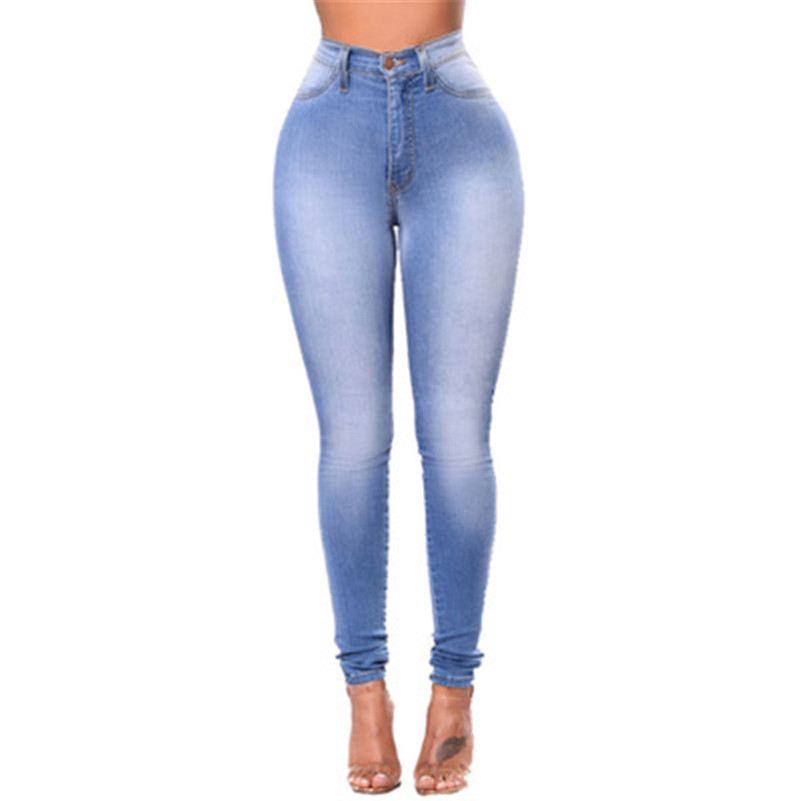 High Quality 2019 Jeans Pants Capris Female Skinny Waist Women Trousers Jeans Girls Work Plus Size Pearl Vintage Strech Korean