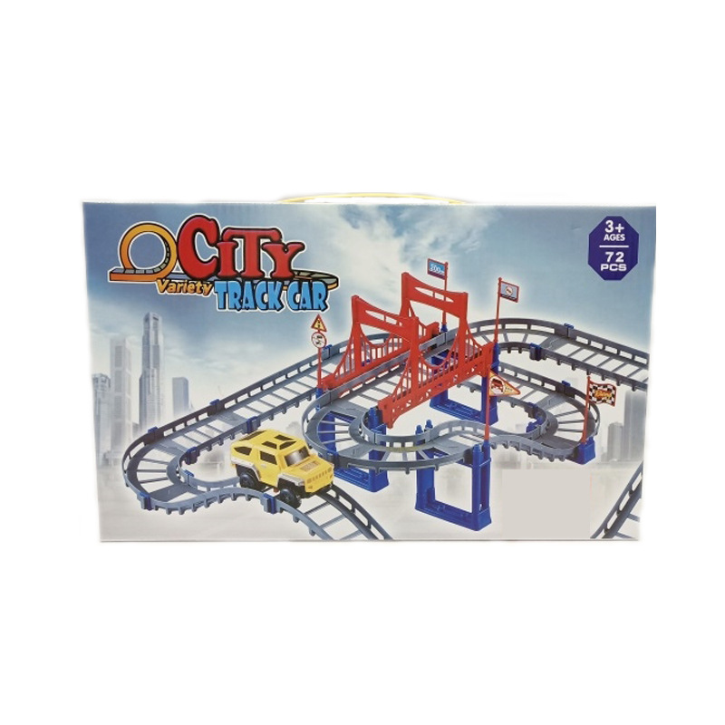 Children Electric Educational Toy Double Layer Flexible Camera Track Car DIY Assembled Camera Track Stall Toy Train Track