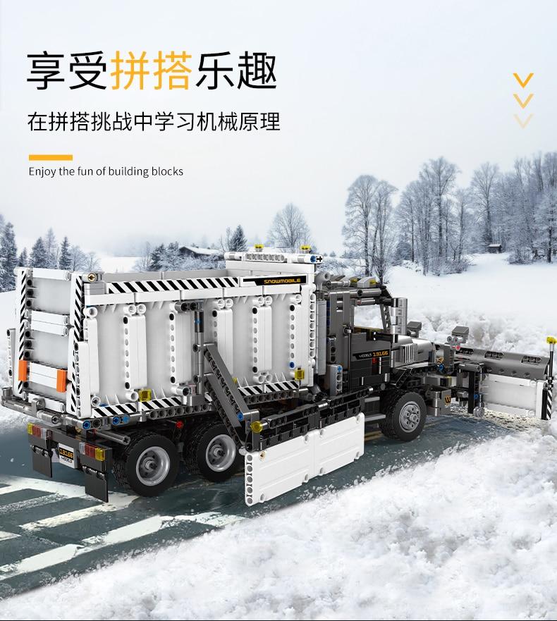 MOULD KING 13166 MOC-29800 Compatible 42078 Snowplow Truck Building Block (1694PCS) 10