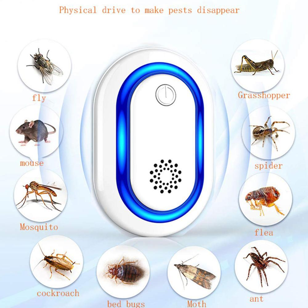 EU/US/UK Plug Electronic Mosquito Repellent Indoor Anti Cockroach Mosquito Insect Killer Rodent Contro Ultrasonic Pest Repeller|Repellents| |  - title=