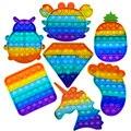 Pop Zappeln Reliver Stress Spielzeug Regenbogen Push Es Blase Anti-Stress-Spielzeug Erwachsene Kinder Sensorischen Spielzeug Zu Entlasten Autismus Freies Verschiffen
