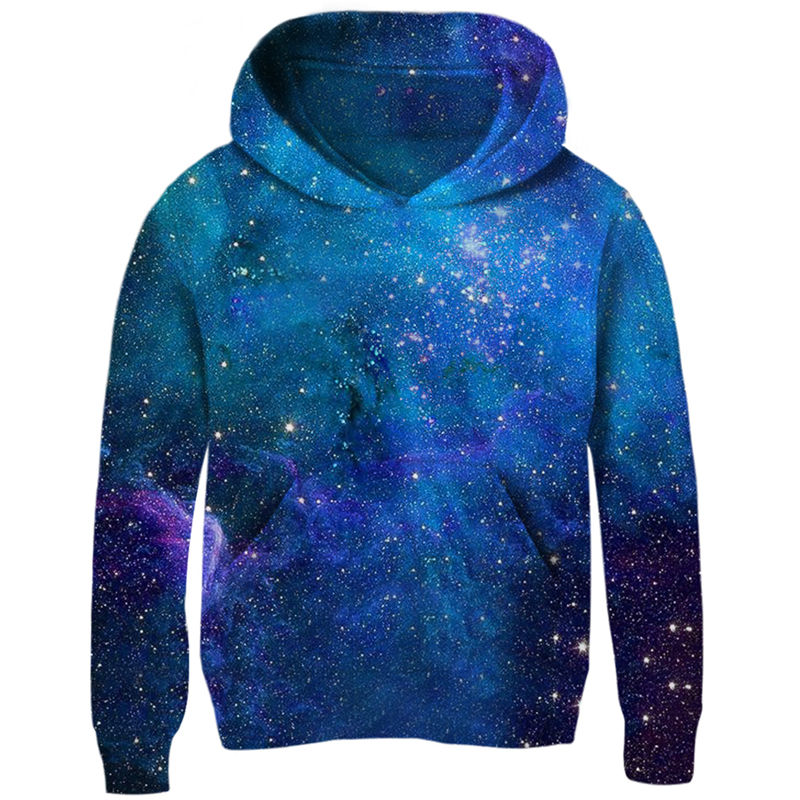 Image 4 - Space Galaxy Hoodies Girls Boys Outerwear 3d Brand Clothing Sweatshirt Hooded Autumn Pullover Tops 5 7 9 11 Year Kids Clothes-in Hoodies & Sweatshirts from Mother & Kids