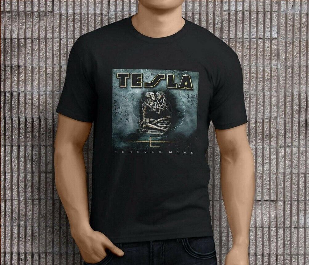 New Tesla Metal Rock Band Legend Logo Men/'s White T shirt size S to 3XL