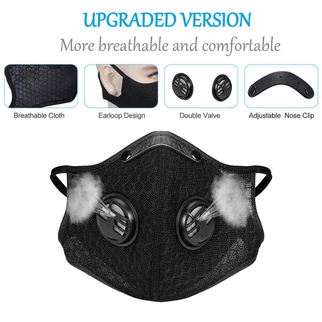 5 filter + 1masks Activated bamboo carbon 5-layer prevention bacterial face Masks Anti-dust Safe PM2.5 protective mask Respirato 4