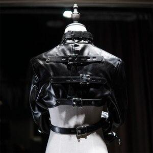 Image 3 - Fetish Female Open Breast Cupless Leather Bdsm Bondage Strait Jacket Top Womens Restraint Straight Costumes Sex master
