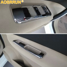 Car stickers of Window lift control panel ABS Chrome decoration Cover For Nissan Qashqai J10 2011 2012 2013 2014