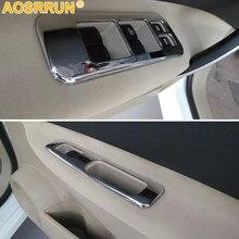 Auto aufkleber von Fenster lift control panel ABS Chrom dekoration Abdeckung Für Nissan Qashqai J10 2011 2012 2013 2014