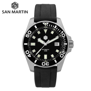 Image 1 - סן מרטין Diver NH35 ספיר קריסטל גברים אוטומטי מכאני שעונים 120 קליקים קרמיקה לוח 30Bar BGW9 זוהר תאריך חלון