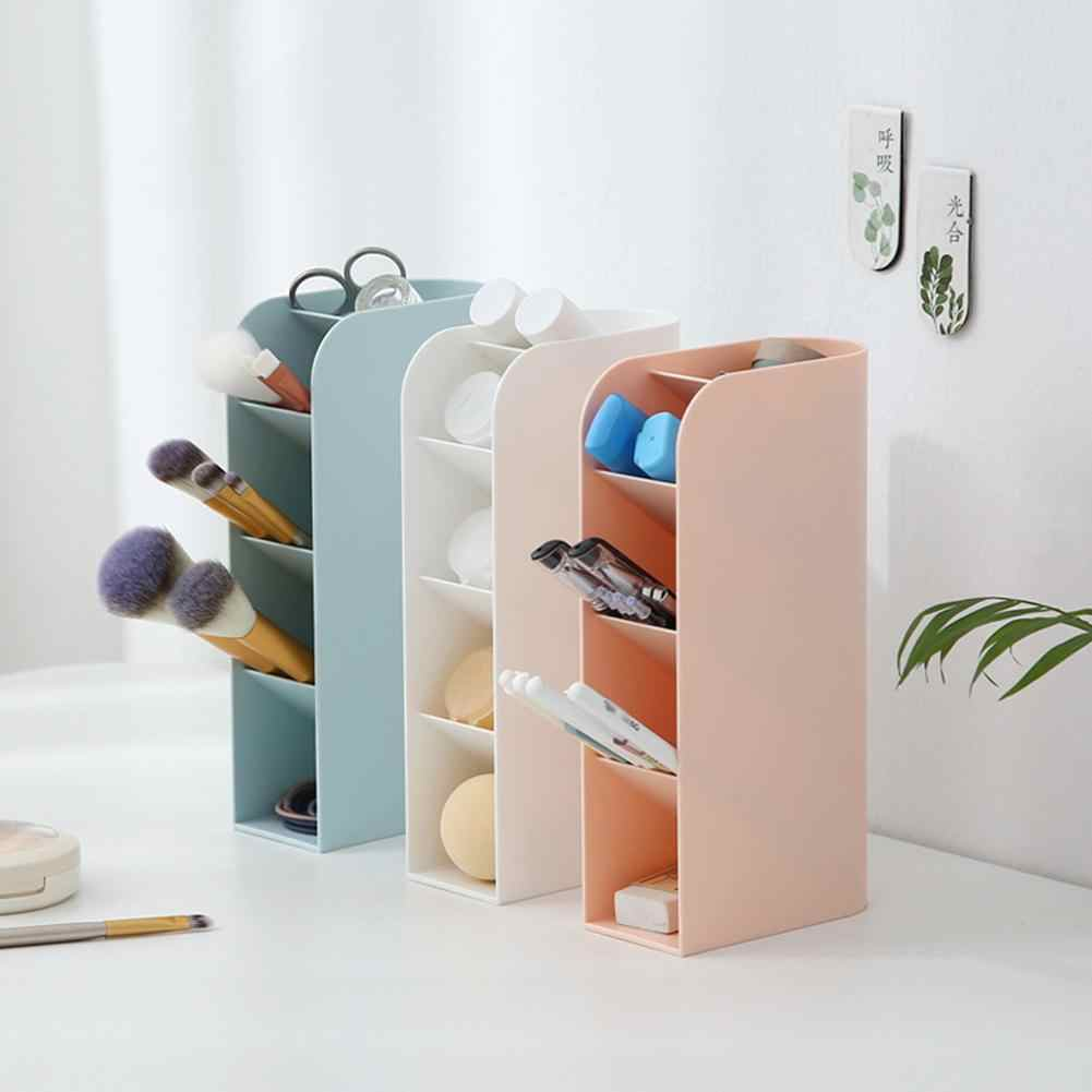 Vertical Storage Box Pencil Pen Brushes Cosmetics Tool Holder Organizer Case Convenient storage and transport of cosmetic tools.