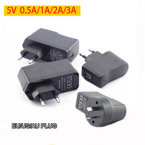 USB Charger for Power Bank Phone 5V 0.5A 1A 2A 3A USB Charging AC to DC Power Supply Adapter Wall Travel Charger EU/US/AU Plug